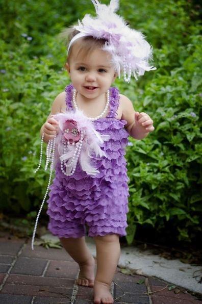 Sweet Lavender Lace Pettiromper