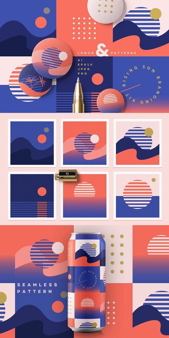 Rising Sun Branding Kit by Polar Vectors on Creati…