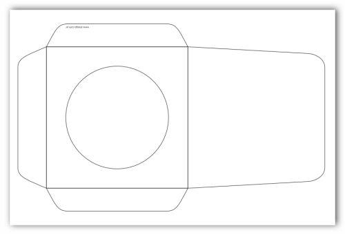Plantilla vectorial para crear sobres para CD | 140 Geek