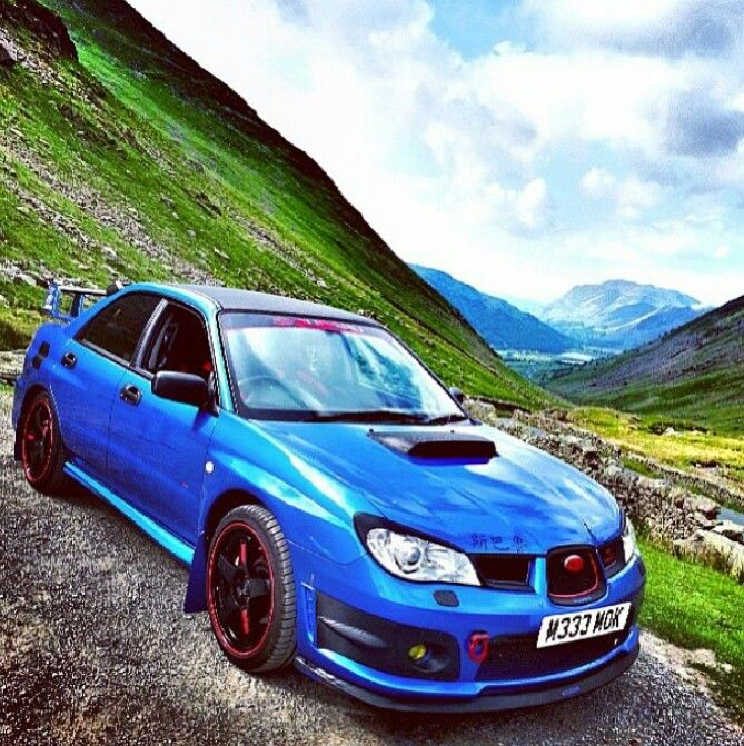 Subaru sti rally car