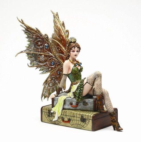 Steampunk Fairy Statue Rebecca Time Traveler of Atlas   eBay