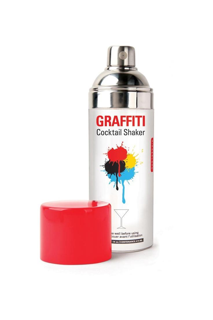 Graffiti Cocktail Shaker by Kikkerland: Christian, Gifts Ideas, Gift Ideas