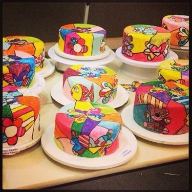 Romero Britto cakes