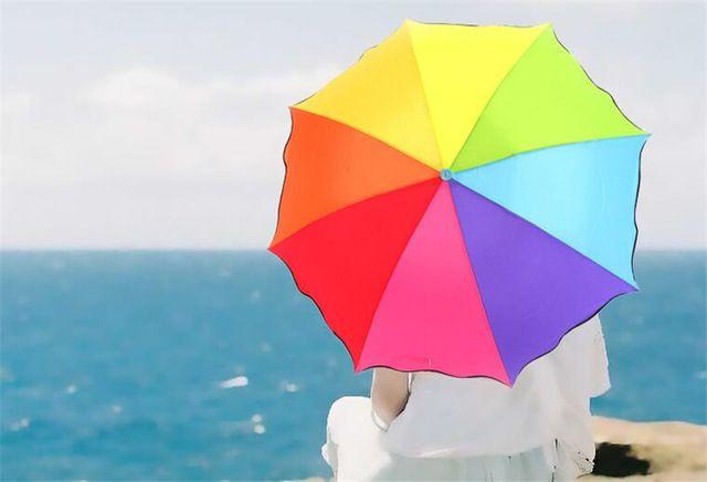 Regenboog Paraplu Parasol Regen Zon Paraplu Parasols Parasol Regen