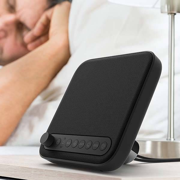 Wave Sleep Therapy Sound Machine with Timer and USB Charger