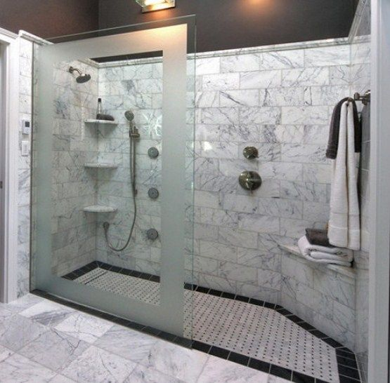 19 Best Images About Shower Tile Design On Pinterest Double Shower Traditional Bathroom And