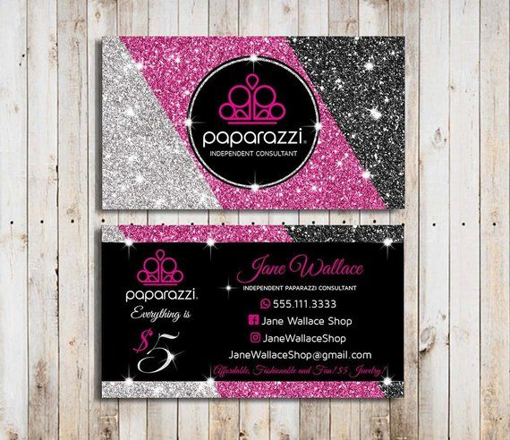 Paparazzi Business Cards Vistaprint Pink Paparazzi Business Cards Template Paparazzi Acce Jewelry Business Card Glitter Business Cards Printable Business Cards