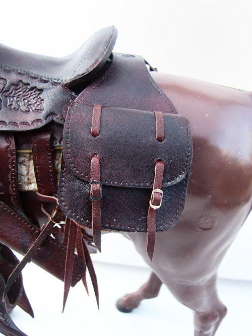 colorful pictures of western saddles | Ben's Custom Model Horse Tack:Johnny West:Western Saddlebags