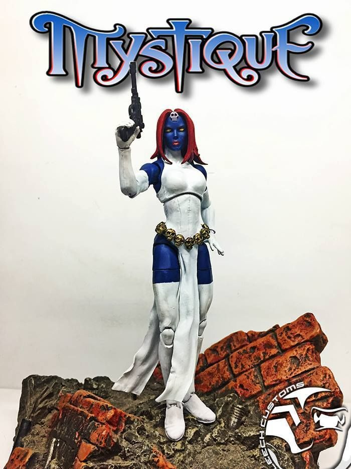 """Custom Marvel Legends MYSTIQUE 6"""" Figure by LEECH Customs   Toys & Hobbies, Action Figures, Comic Book Heroes   eBay!"""