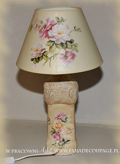 lampa decoupage
