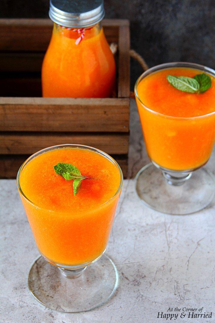 Papaya, Orange And Turmeric Smoothie from @anjanadev