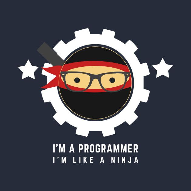 Awesome 'Programmer+%3A+I%27m+a+programmer.+I%27m+like+a+ninja' design on TeePublic!