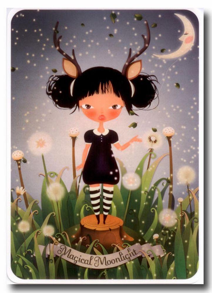 Greeting card Magical Moonlight #Limoon  from www.kidsdinge.com  https://www.facebook.com/pages/kidsdingecom-Origineel-speelgoed-hebbedingen-voor-hippe-kids/160122710686387?sk=wall