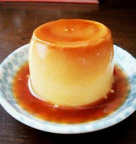 とっても簡単!マグカッププリン  材料 (マグカップ1個)  卵1個  牛乳130㏄  砂糖大さじ2  バニラエッセンス 2~3滴  ☆砂糖大さじ1  ☆水小さじ2/1