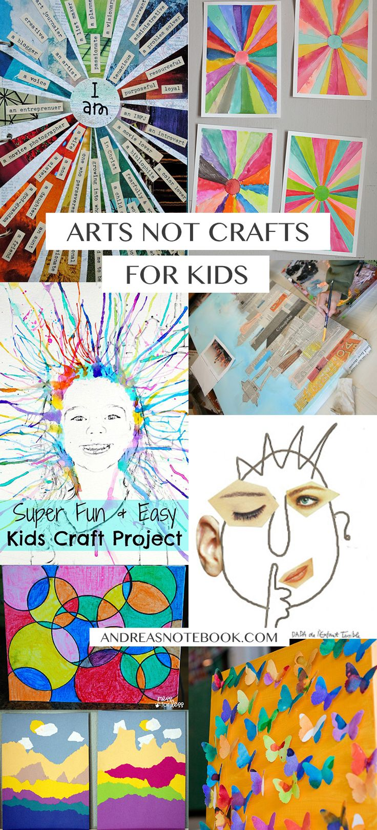 Tired of kid crafts? Introduce them to the arts! Check out this inspiration!