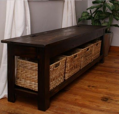 Storage Bench. I could do it. would also make a cute small coffee table