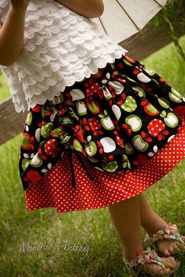 Twirl skirt pattern, PDF sewing pattern ebook, easy, Aubrey, SALE 12 months - size 8. $4.00, via Etsy.