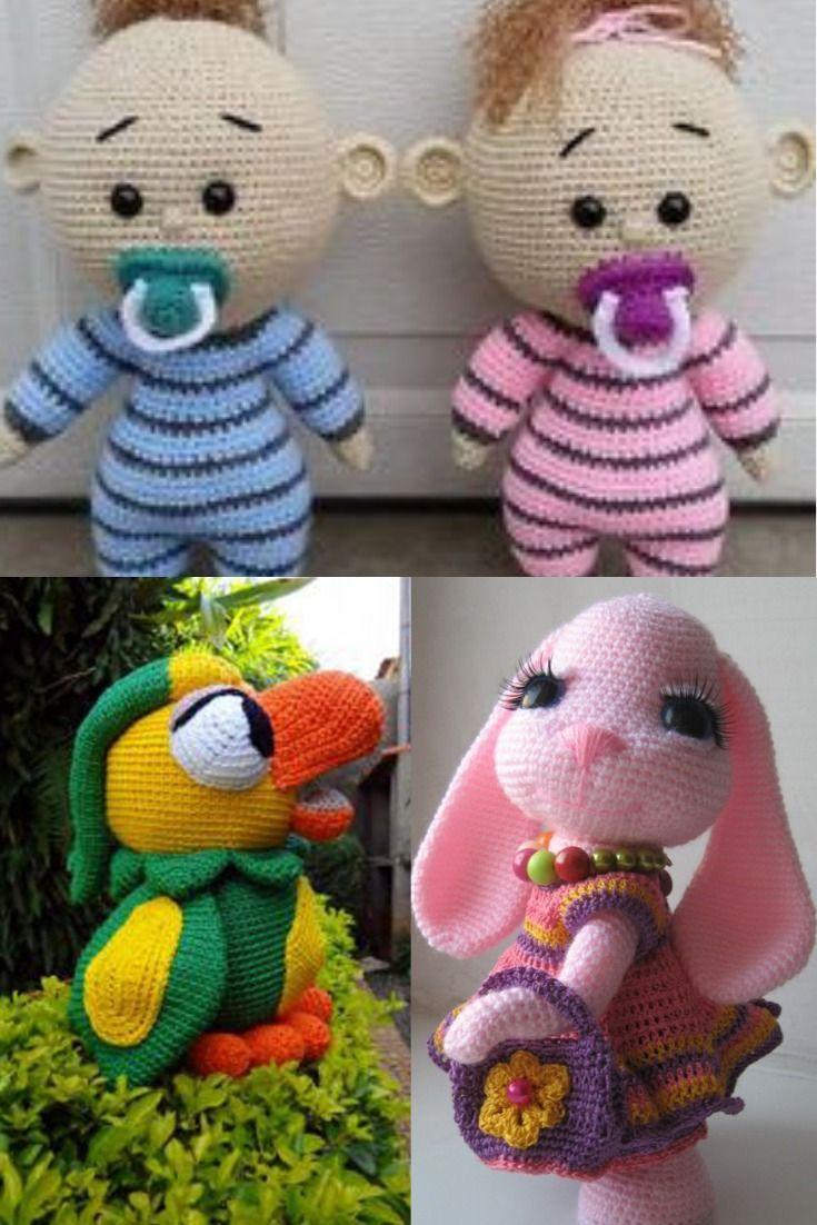 Boneca de crochê: +40 ideias com amigurumi fantásticas ... | 1102x735