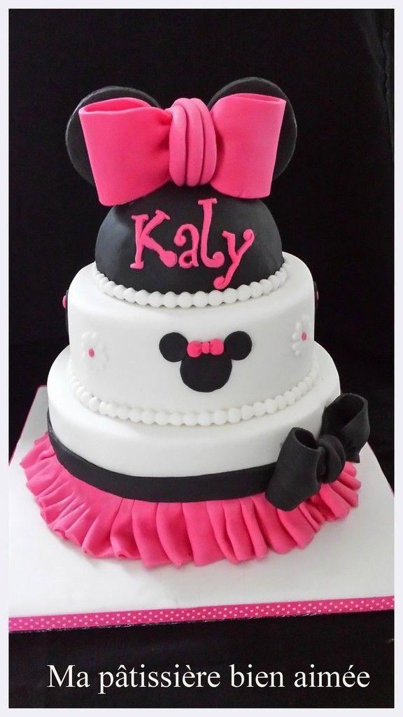 Gâteau  Minnie / Minie cake                                                                                                                                                     Plus