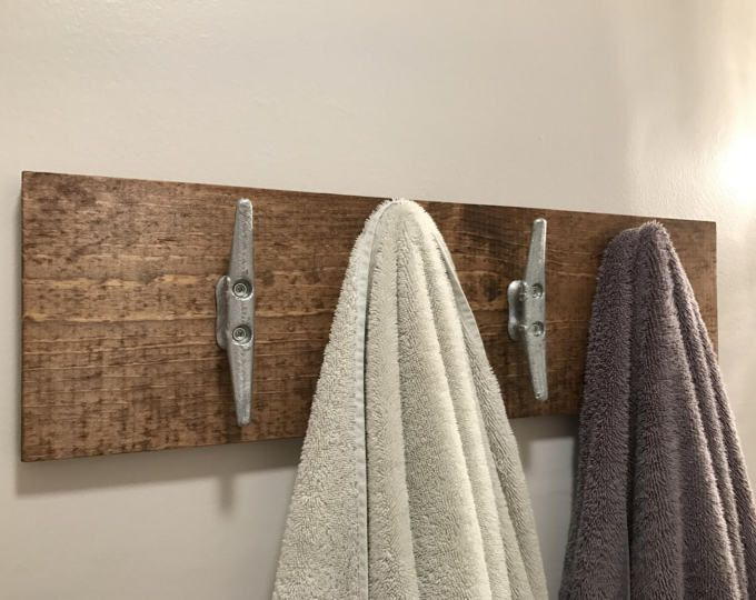 Nautical Coat Rack, Coat Hooks, Cleat Towel Holder, Towel Hooks, Beach House Part 91
