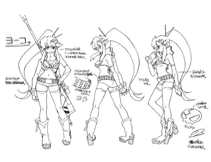 Character Design Reference Sheet : Yoko model sheet ★ character design references