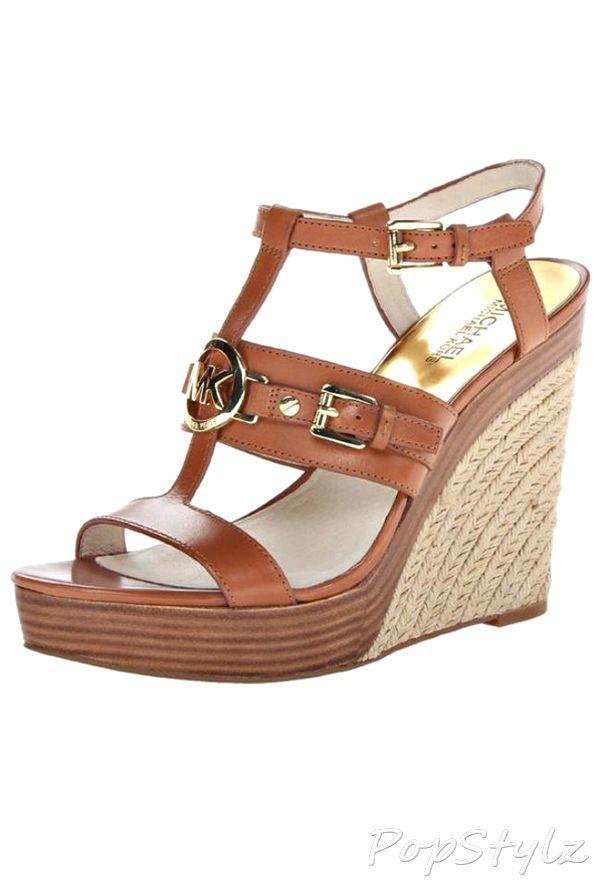 official michael kors outlet website yzik  Michael Kors Mackenzie Wedge Leather Sandal