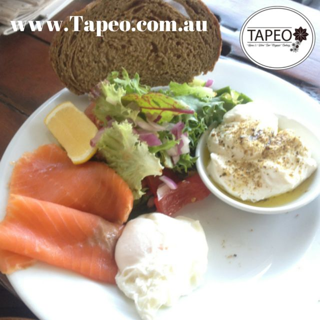 Here's #salmon #poachedegg #labne #lemon #rye & #salad. Make your own #lunch #meals at Tapeo: 82 Redfern St, Redfern NSW. Check us out at http://www.Tapeo.com.au & follow us on FB http://FB.com.tapeo.au #Tapeo #tapeocafe #tapeosydney #redfern #cafe #restaurant #sydneycafe #sydneyrestaurant #makeyourown