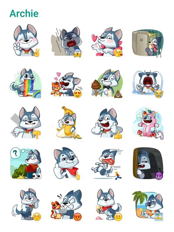 Archie the Dog Sticker Pack #Telegram #Stickers