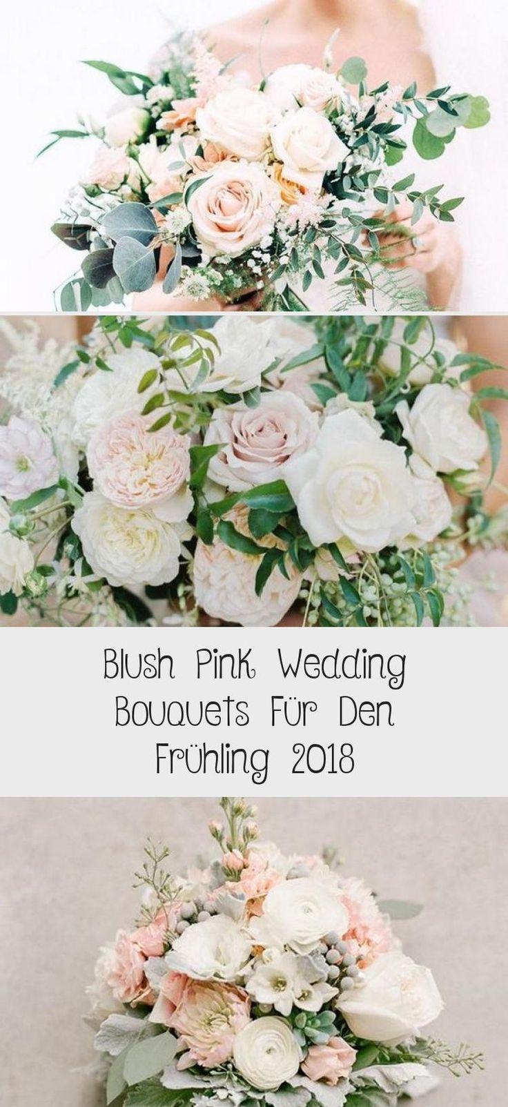 Erröten rosa Hochzeitssträuße für den Frühling 2018   – Dekoration