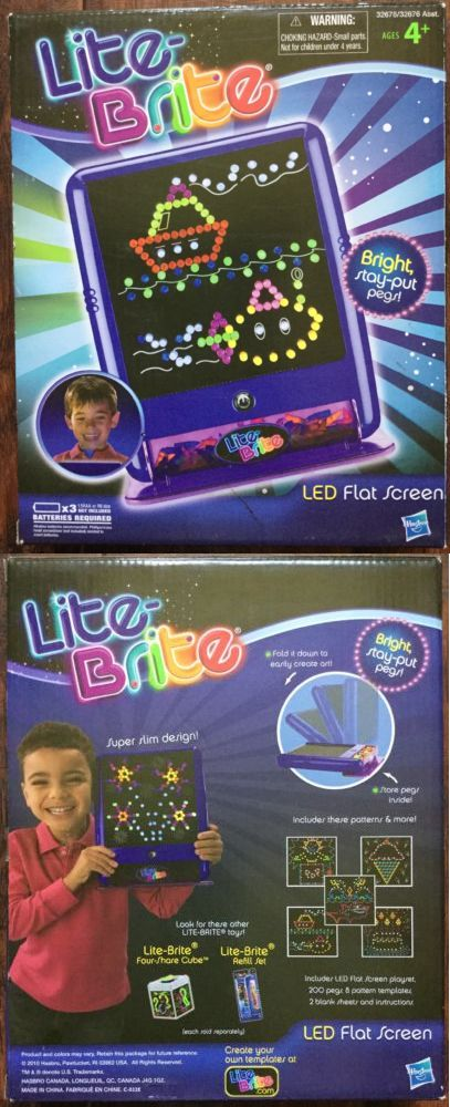 lite brite 152912 hasbro lite brite led flat screen playset w 200 pegs and 8 patterns buy it now only 166 on ebay brite hasbro screen playset