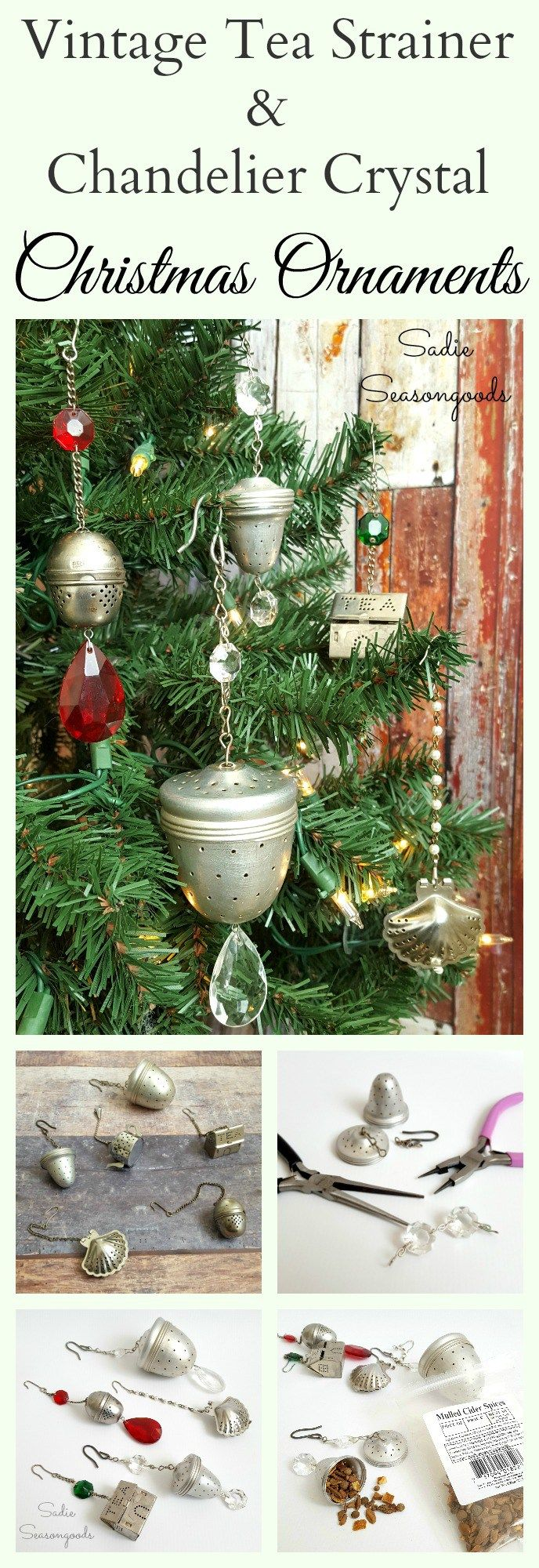 Health benefit of moringa leaves and moringa seeds nutriclue - Combine Rustic Vintage Tea Strainers With Elegant Glamorous Chandelier Crystals Into Gorgeous Christmas Ornaments That Will Look Great On Your Tree