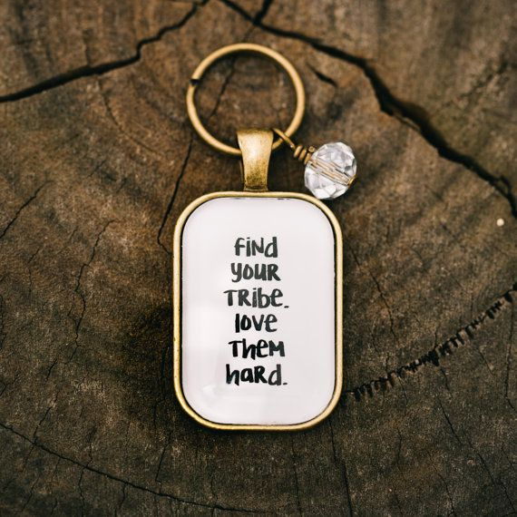 Find Your Tribe, Love Them Hard. Free postage and handmade by Kitschy Koo Design on Etsy