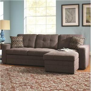 gus small sectional sofa with style and tufts
