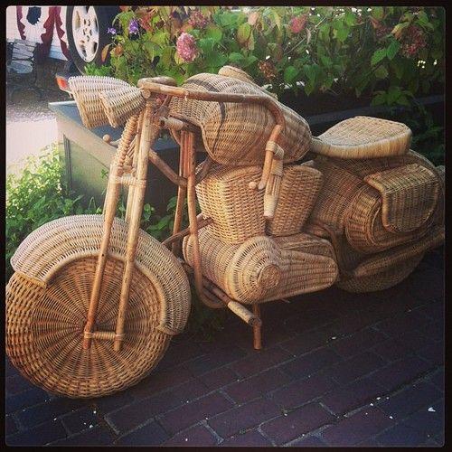 Wicker motorcycle #islandlife #bamboo #wicker #motorcycle #cool - @StacyStyle