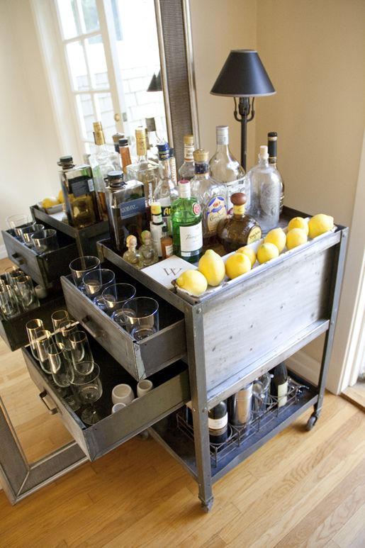 Oh, how I covet thee. #barcart #vintage: Happy Hour, Minis Bar, Beverages Carts, Bar Ideas, Kitchens Carts, Home Bar, House, Bar Carts, Homebar