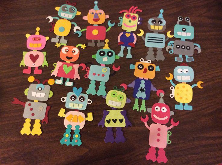 Used Marianne die cuts - Robot -soooo cute!