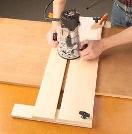 Cut perfect dado grooves with this jig. How to use your router and this jig for cutting dadoes.