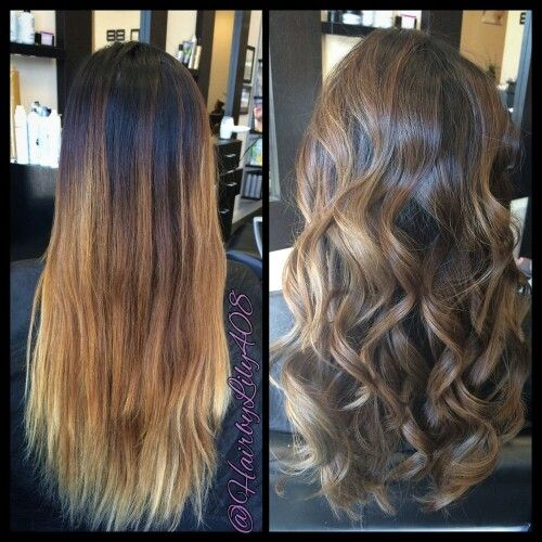 ombr fix color correction this stylist used a balayage. Black Bedroom Furniture Sets. Home Design Ideas