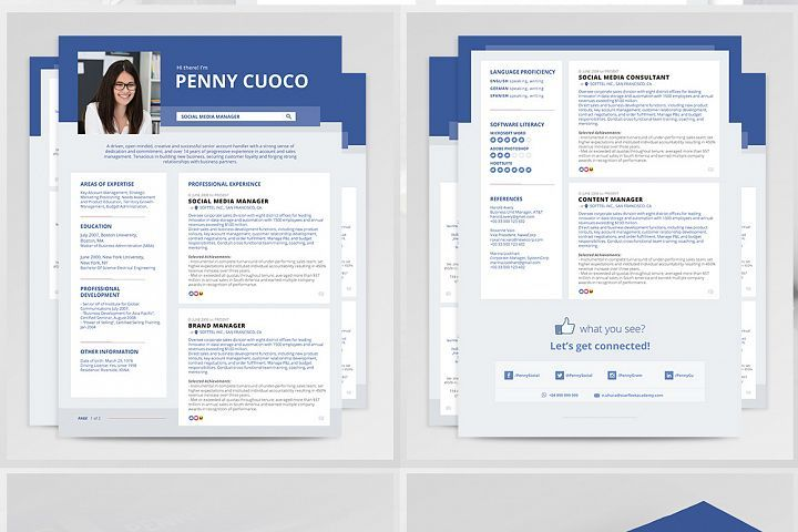 Resume Template Facebook 72283 Resume Templates Design Bundles Resume Template Resume Design Template Resume Templates