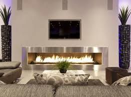 longer fire place smaller tv