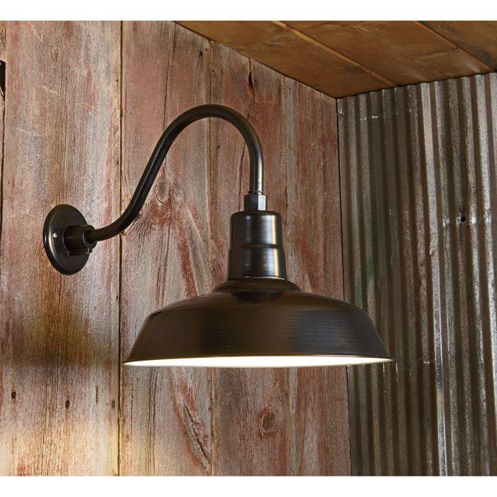 NPower Multi-Mount Warehouse Barn Light 12in. Dia., Black