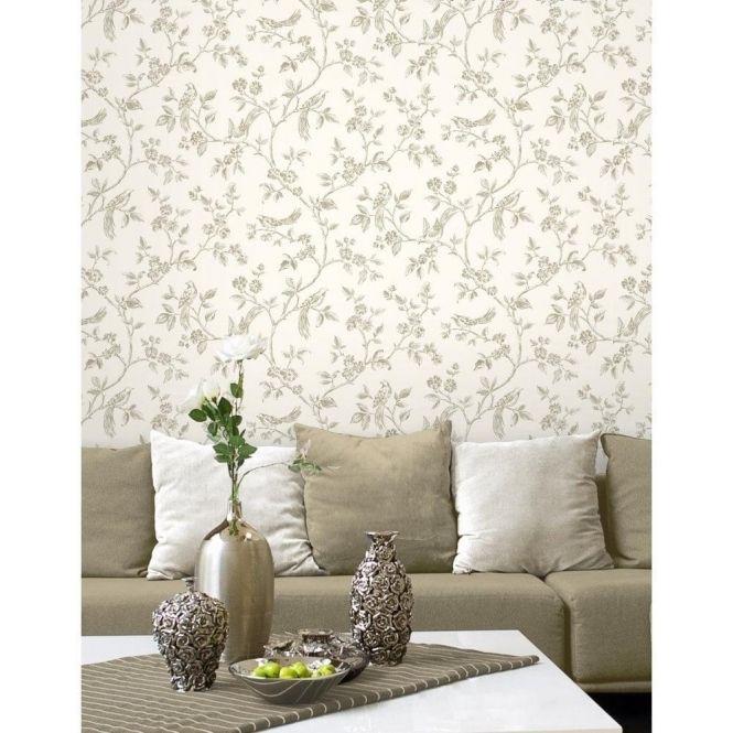 Fine Decor Summer Blossom Wallpaper FD40891 Teal /& Silver Glitter Textured