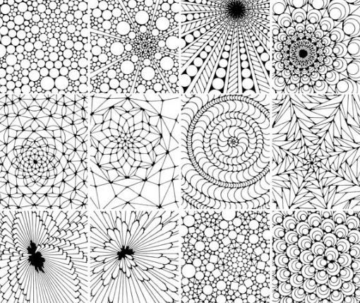 117 best patterns, shapes images on pinterest | coloring sheets ... - Coloring Pages Designs Shapes
