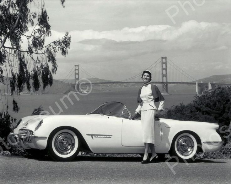 This is an excellent reproduction of an old photo on quality photography paper not cheap ink jet stock. Chevrolet Corvette Automobile 1953 Vintage 8x10 Reprint Of Old Photo Chevrolet Corvette Automobi