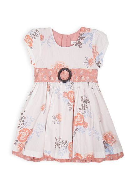 Pumpkin Patch - dresses - floral print dress - W4TG80061 - vanilla ice - 12-18m to 5