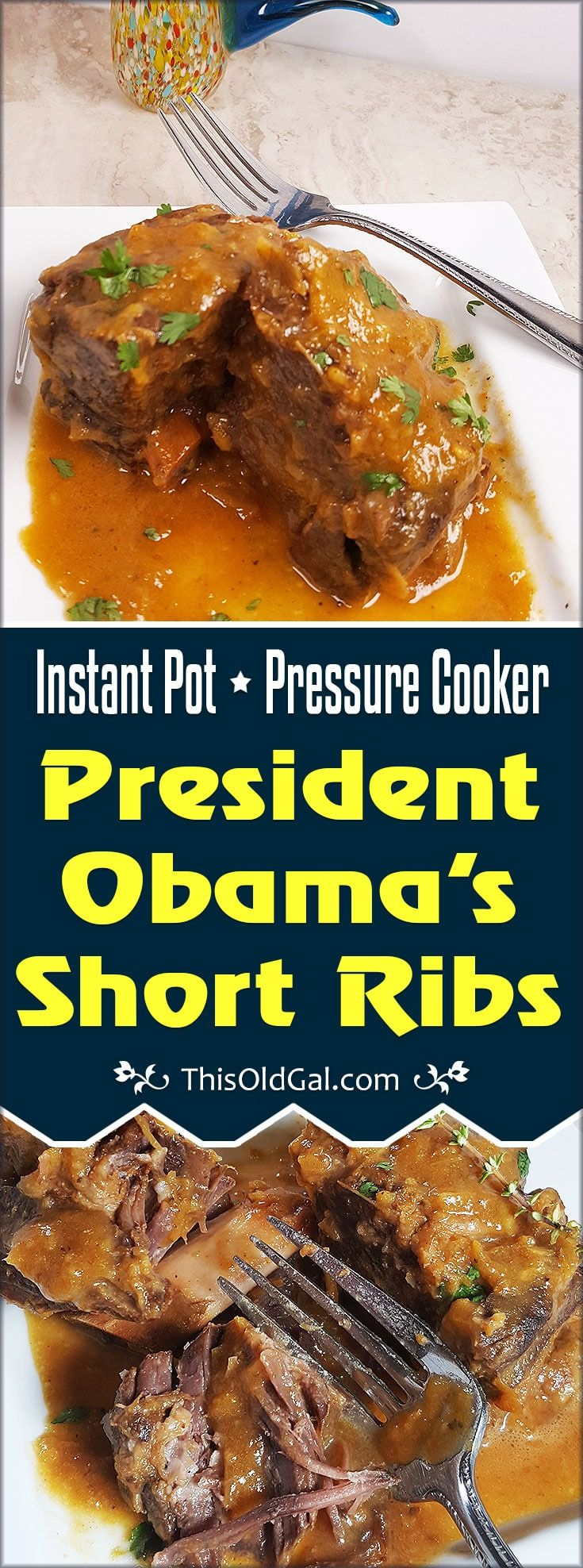 Pressure Cooker President Obama's Short Ribs are braised in Lemongrass, Plum Sauce, Red Wine, Stock and Ginger, then combined with Spring Vegetables. via @thisoldgalcooks