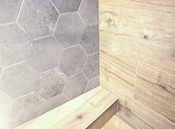 #viverto #InspiracjeViverto #łazienka #bathroom #beautiful #perfect #pomysł #design #idea #nice #cool #inspiration #szarość #szary #grey #nowoczesność #nowocześnie #minimalizm #minimalistic #płytki #tiles #grzejnik #industrializm #industrialnie  #toaleta #ceramika #umywalka #armatura #baterie #bateria #wow #moda #trend #drewno #drewnopodobne #imitacja #wood #wooden #heksagony #heksagon
