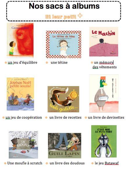 Les sacs à albums - La maternelle de Vivi