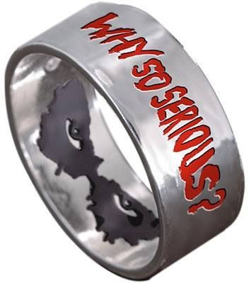 Joker ring. I bought this many years ago. I loved it so much, it's tattooed on me.