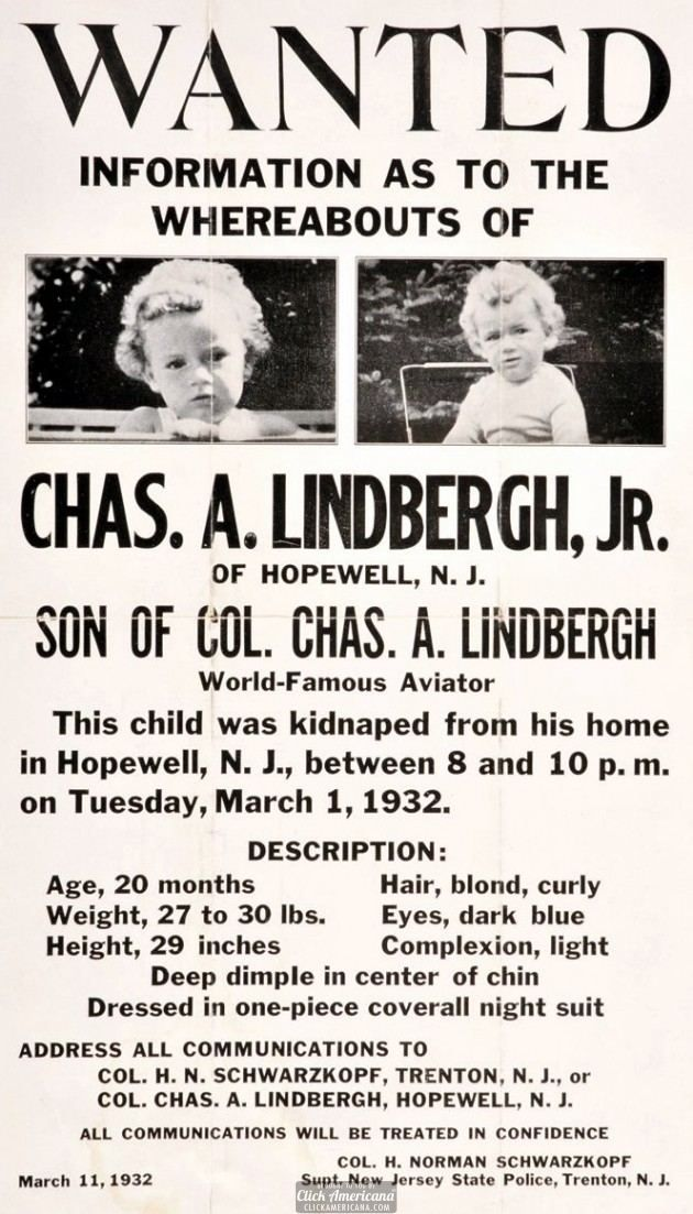 lindbergh baby kidnapping 1932-lindbergh-baby-poster-630x1103 the lindbergh kidnapping is one of the  most notorious cases of the 20th century as a direct result of the case, us.